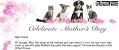 The Humane Society of the United States - Celebrate Mother's Day